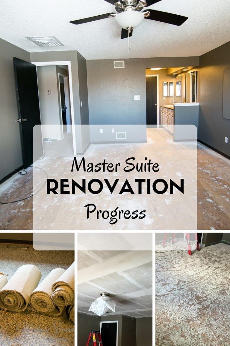 Master Suite Renovation Progress