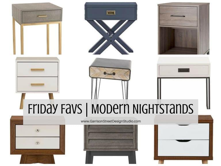 Friday Favs | Modern Nightstands