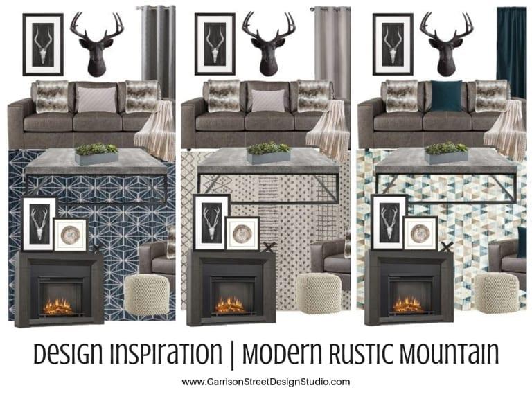 Design Inspiration | Modern Rustic Mountain Living Rooms