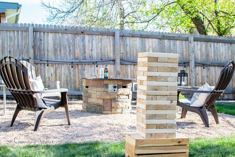 DIY Giant Block Tower Yard Game