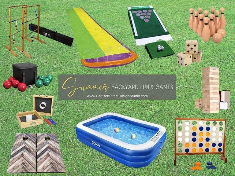 Summer Backyard Fun and Games