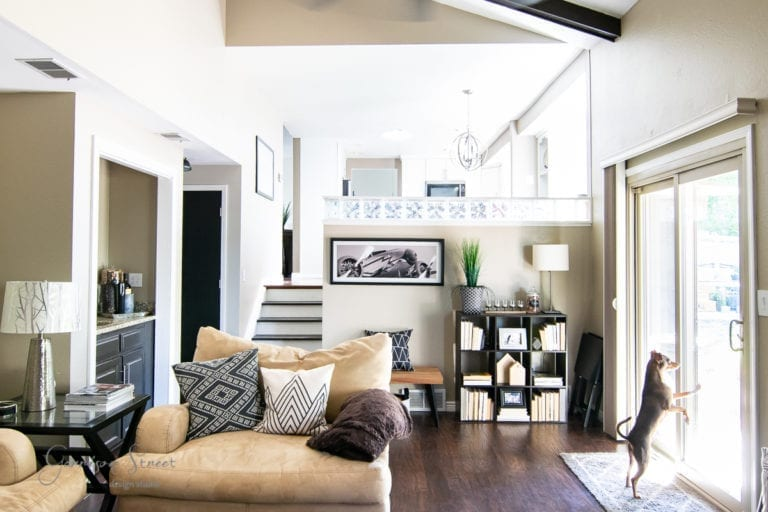 Casual Modern Family Room Makeover