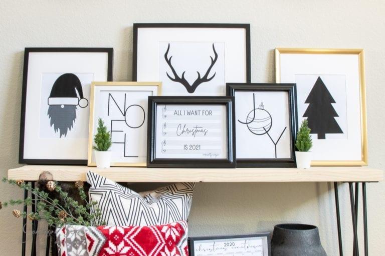 Modern Christmas Printable Art