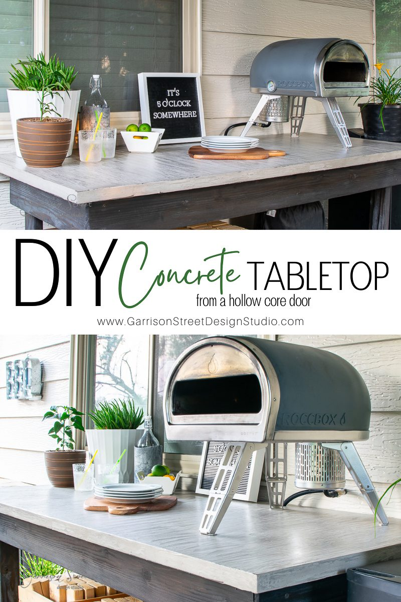 DIY Concrete Tabletop